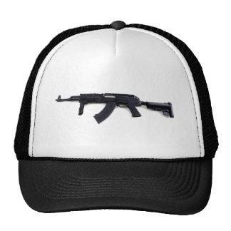 Perfil izquierdo táctico del rifle de asalto de AK Gorros