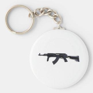 Perfil izquierdo táctico del rifle de asalto de AK Llavero Redondo Tipo Pin
