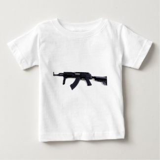 Perfil izquierdo táctico del rifle de asalto de playera de bebé