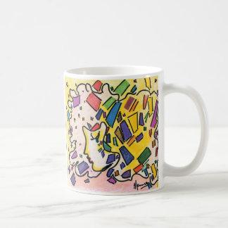 Perfil máximo del estilo de Peter del vintage con Taza De Café