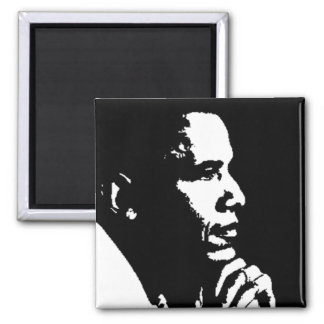 Perfil negro y blanco de Barack Obama Iman