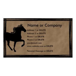 Perfil personal de la silueta del caballo de la tarjetas de visita