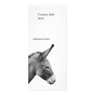 Perfil principal del burro tarjeta publicitaria a todo color