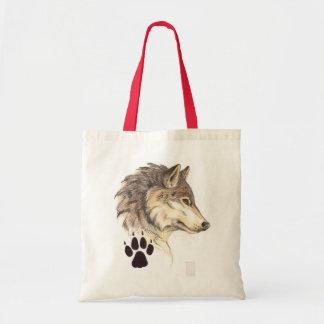 Perfil principal del lobo bolsa tela barata