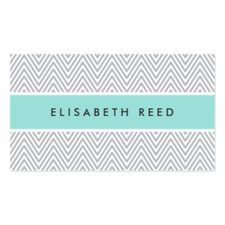 Perfil profesional azul de la aguamarina gris eleg plantillas de tarjeta de negocio