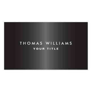 Perfil profesional gris oscuro masculino moderno plantilla de tarjeta de negocio