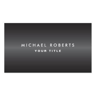 Perfil profesional gris oscuro masculino moderno tarjeta de visita