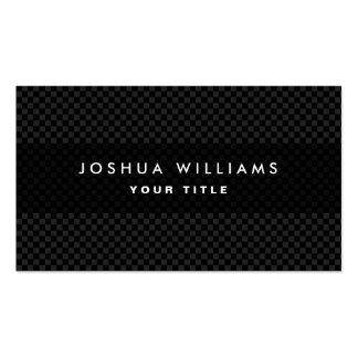 Perfil profesional gris oscuro y negro moderno plantilla de tarjeta personal