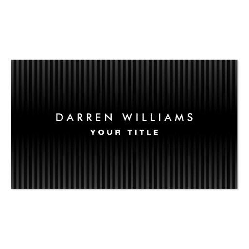 Perfil profesional gris oscuro y negro moderno tarjetas de visita