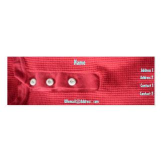 Perfil rojo del valor tarjetas de visita mini