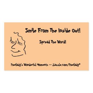 Perfil sonriente simple tarjetas de visita