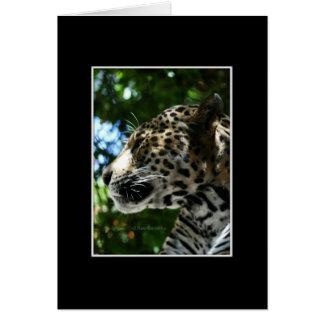 Perfilado del guepardo tarjeta de felicitación