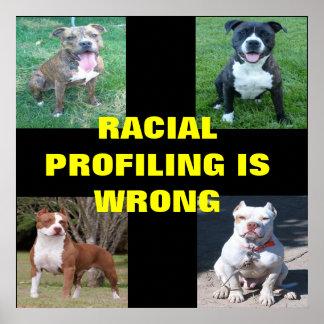 Perfilado racial poster
