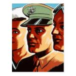 Perfiles retros de las fuerzas armadas de arma de  tarjetas postales