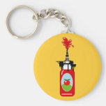 Perforación para la salsa de tomate llavero personalizado