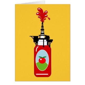 Perforación para la salsa de tomate tarjeta de felicitación