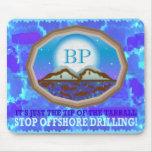 Perforación petrolífera en el mar tapetes de raton