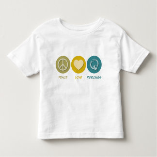 Perforaciones del amor de la paz tee shirts