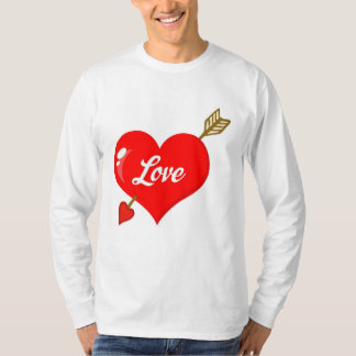 Perforated Heart With Arrow And Text Shirt