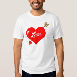 Perforated Heart With Arrow And Text T Shirt