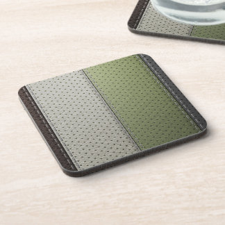 perforated leather texture set beverage coaster