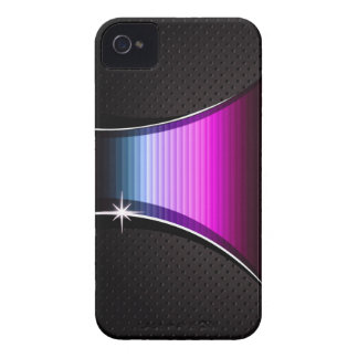 Perforated Leather with Grooves (blue/fuschia) iPhone 4 Case