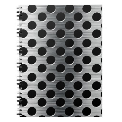 Perforated Metal Grate Spiral Notebook Zazzle