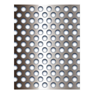 Perforated Metal Letterhead