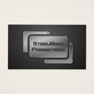 Perforated Metal Plating Business Card