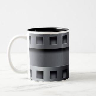 Perforated Metal Two-Tone Coffee Mug