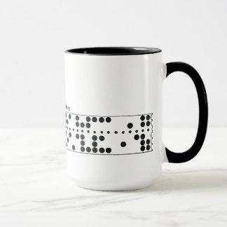 Perforated tape mug