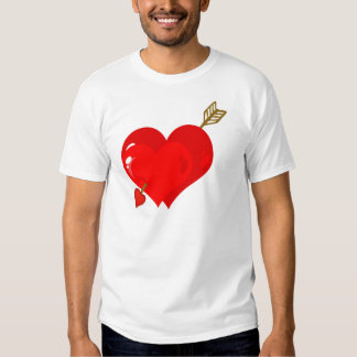 Perforated Two Heart With Arrow Shirt
