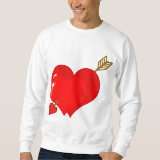 Perforated Two Heart With Arrow Sweatshirt
