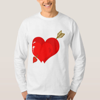 Perforated Two Heart With Arrow T-shirt