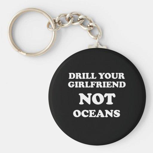 Perfore sus océanos de la novia NO - Llavero Personalizado