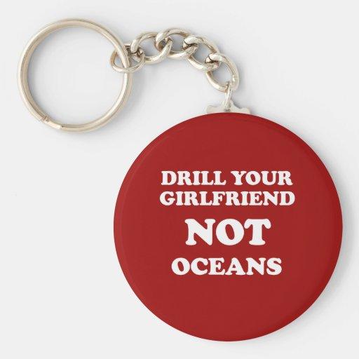 Perfore sus océanos de la novia NO - Llaveros Personalizados