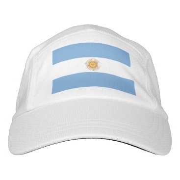 Performance Hat with flag of Argentina
