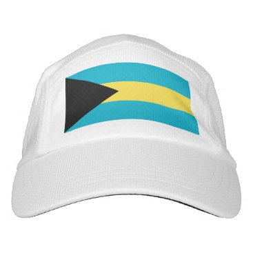 Performance Hat with flag of Bahamas