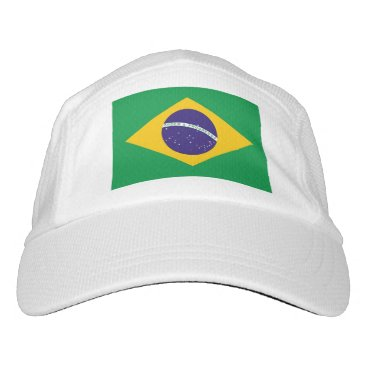 Performance Hat with flag of Brazil