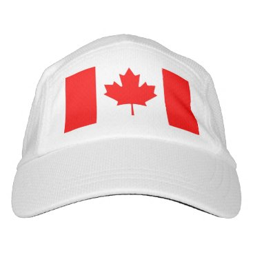 Performance Hat with flag of Canada
