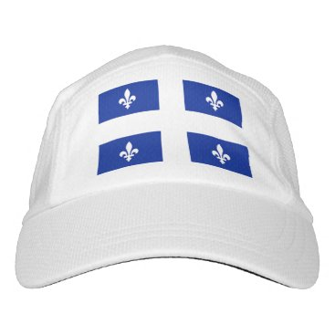Performance Hat with flag of Quebec, Canada