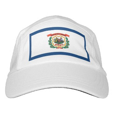 Performance Hat with flag of West Virginia, USA
