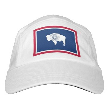 Performance Hat with flag of Wyoming, USA