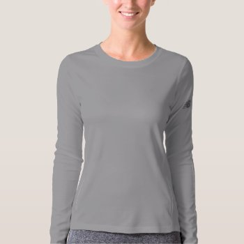Performance Long Sleeve Knit Workout Gear T-shirt by creativeconceptss at Zazzle