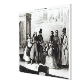 Performance of 'Le Pere Goriot' Canvas Print