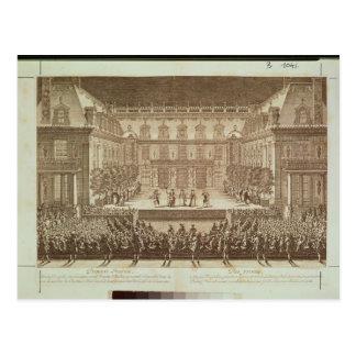 Performance of the opera 'Alceste' Postcard