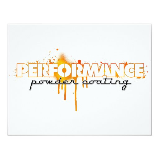 performance powdercoating personalized announcement
