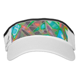 Performance Visor Colorful Stained Glass