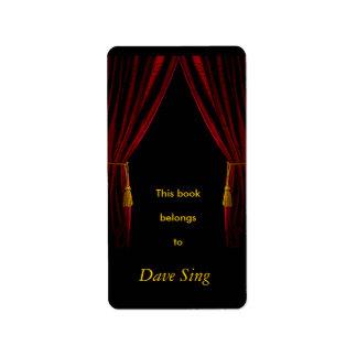 Performer Bookplate Label