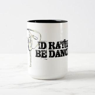 Performer Collection:  I Love Dancing Two-Tone Coffee Mug